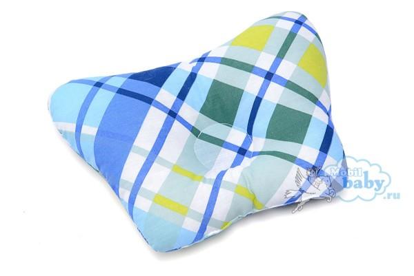 подушка-для-новорождённых-голубая