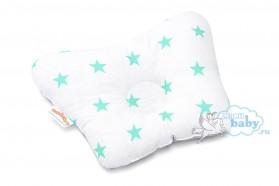 подушка-для-новорождённых-мятные-звездочки