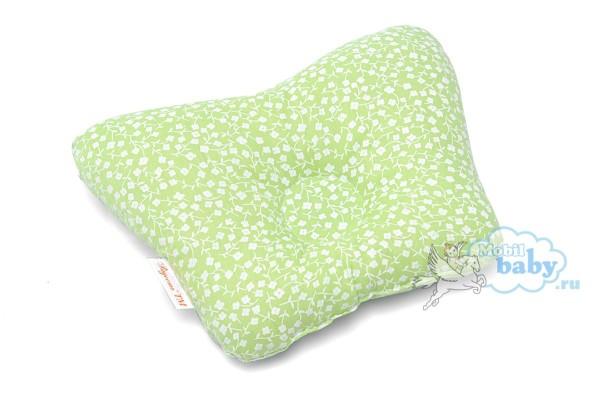 подушка-для-новорождённых-цветочки-зеленые