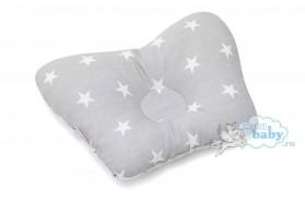 подушка-для-новорождённых-звездочки-на-сером