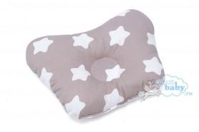 подушка-для-новорождённых-звезды-кофейные