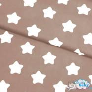 Звезды на коричневом ткань